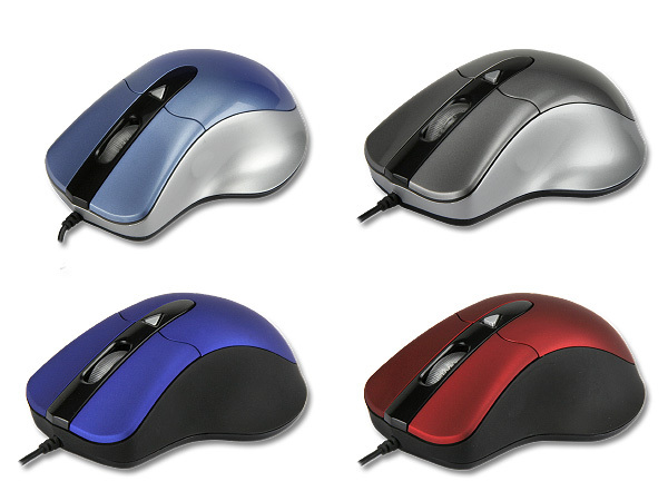 2388-RED-BK USB OPTICAL MOUSE