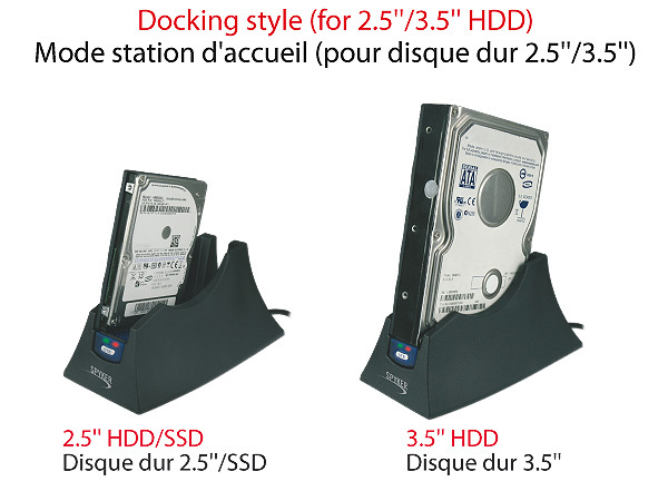 USB v3.0 DOCKING STATION  FOR 3.5''/2.5'' SATA HARD DISK