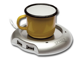 USB CUP WARMER WITH 4 PORTS USB
